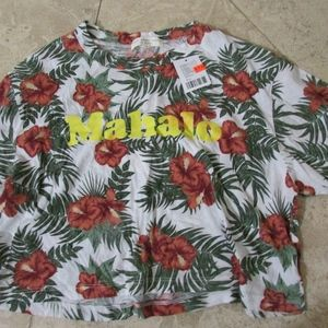 Urban Outfitters Crop top Mahalo Flowers S